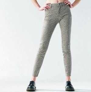 NWT Pacsun Cheetah Print High Rise Jeggings Jeans